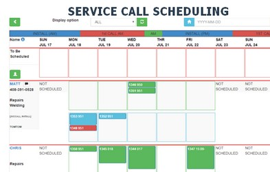 Service Call Scheduling